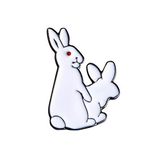BESTOYARD Kaninchen Brosche Red Eyed Rogue Kaninchen Legierung Pin Brosche Kostüm Zubehör Ostern Geschenk für Frauen Mädchen 3 Stücke (Weiß)