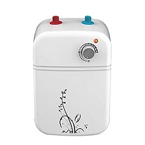 Cqq Calentador de agua Debajo del fregadero Calentador de agua Eléctrico 8L 1.5kW Igh Efficiency Instantáneo Calentador de agua sin tanque eléctrico caliente Cuarto de baño Cocina Peluquería