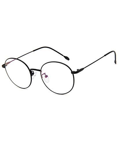 Transparente Gläser Klare Linse - Runde Ultradünne Metallrahmen Lesebrille Dekor Retro Brillen Für Damen & Herren