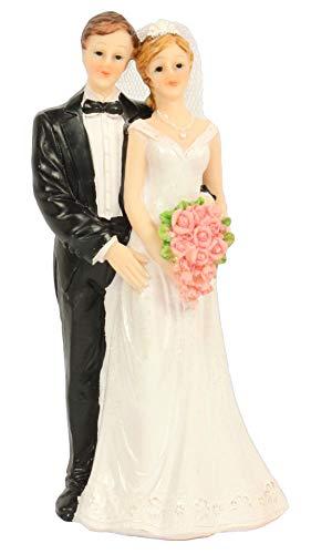 Cepewa Tortenaufsatz Brautpaar Tortenfigur Dekoration Hochzeit Bräutigam und Braut mit...