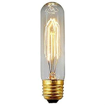Glühbirne Amps (Hochdekorative Edison Vintage-Glühbirnen, E27 & E14, 40 W, warme gelbe Glühbirne, einzigartiges Design, Glas, M, E27 40.00 wattsW 220.00 voltsV)