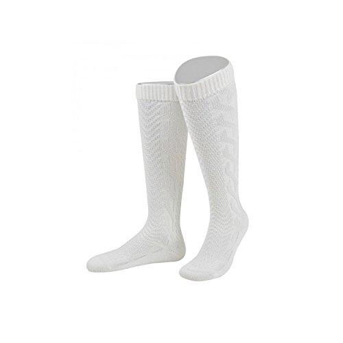 ALMBOCK Herren Trachten Socken weiß | Trachtenkniestrümpfe in Größe 39-47 | bayerische Tracht, Wiesn Strümpfe weiss