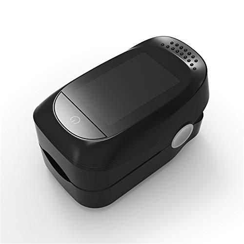 JUZEN Fingerspitzen-Pulsoximeter Tragbare Mini-Schlafüberwachung Pulsmesser Finger-Pulsoximeter Mit Lanyard Und Aufbewahrungstasche,Black -