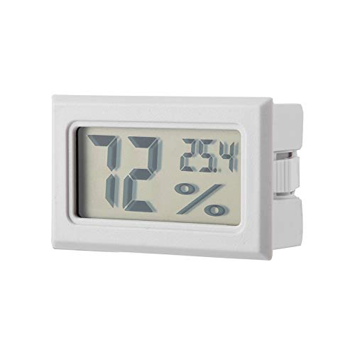 Ponacat Minithermometer Hygrometer schwarz Eingebauter digitaler Temperatur-Feuchtemesser Temperatur-Feuchtemesser mit eingebauter Sonde für Brutapparate Brutapparate Reptilienbehälter -