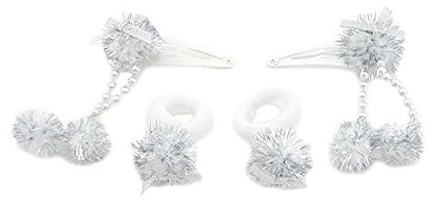 Zest 4Guirlande de Noël Cheveux Accessoires 2pinces à cheveux et 2Tissu
