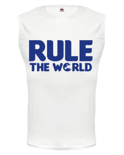 buXsbaum® Tank Top Rule the world White-Royal