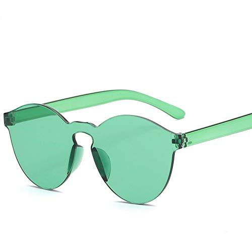 FEYGB Sonnenbrillen Objektiv-Sonnenbrille-Frauen-Transparente Plastikglas-Mann-Art-Sonnenbrille-Freie Süßigkeit-Farbe (Von Arten Süßigkeiten-namen)