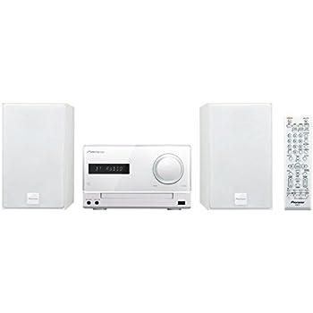 Pioneer Micro HiFi Anlage,  X-CM35BT-W, CD, MP3/WMA, FM/AM Radio, 2 x 15 Watt Ausgangsleistung, Lautsprecher, Bluetooth, NFC, Musik streamen, App, USB/Audio in, iPhone Halterung, Weiss, 1500015