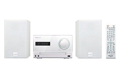 Pioneer X-CM35BT-W Micro Hifi-System (2x 15 Watt, Bluetooth, NFC, Front-USB, CD, Streaming App) weiß