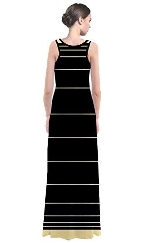 CowCow - Robe - Femme Multicolore Noir et blanc Jaune - Jaune clair