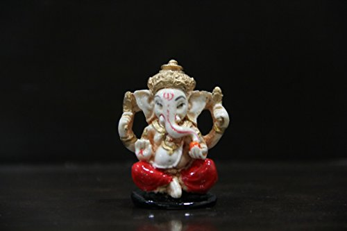 Venus Creation Antique Ganesha Idol For Car Dashboard | Home Decor | Gifting | Size 1.5 inches | Code VAG01  available at amazon for Rs.99