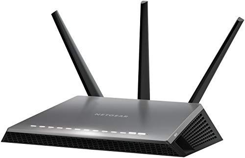 Netgear D7000-100PES Modem Router WiFi AC1900 Dual band Nighthawk, 4 Porte Gigabit Ethernete 1 WAN, 2 porte USB, Nero