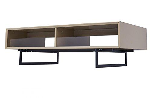 CAGUSTO Couchtisch TITRAN, Wohnzimmertisch 120 x 60 x 35 cm, Sofatisch beige taupe Metallfüße schwarz, Beistelltisch im industriellen Design, als Set mit
