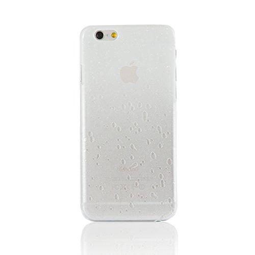 "iProtect Apple iPhone 6 (4,7"") Hülle Raindrop Hard Case Schutzhülle transparent pink Raindrop Case Weiß"