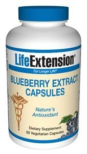 Life Extension Blueberry Extract Capsules 60 vegetarian capsules ( Multi-Pack)