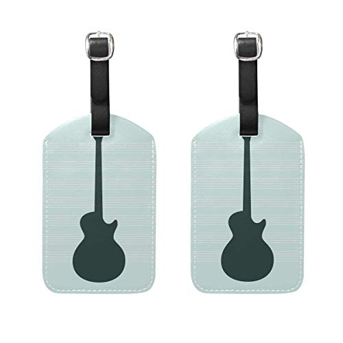 Samsonite-silhouette (Guitar Silhouette Kofferanhänger Bag Travel Labels for Baggage Suitcase 2PCS)