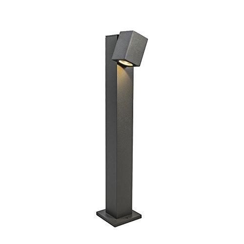 qazqa-design-modern-outdoor-pole-baleno-adjustable-65cm-dark-grey-aluminium-glass-rectangular-includ