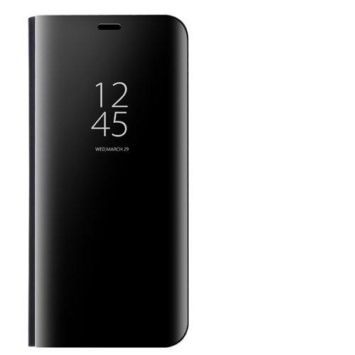 Funda Specchio Placcatura Flip Custodia per Huawei Mate 9 (Nero)