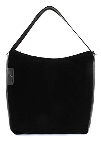 Hobo Womens Medium Handtasche (Mandarina Duck Manhatten Winter Medium Hobo/Crossover Black)