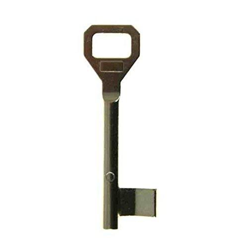 Buntbartschlüssel System Pegau - 70mm oder 90mm Länge - Ersatzschlüssel Zusatzschlüssel für BB-Schlösser im System Pegau - 12 Schweifungen auswählbar - Scheifung 338-70mm Länge