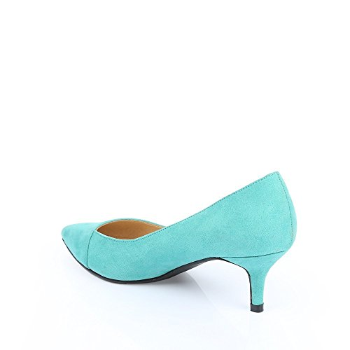 Ideal Shoes – Escarpins al tatto morbido Judit Verde