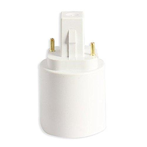 Ampoule lampe Adaptateur convertisseur - TOOGOO(R)Ampoule G24 Pour E27 Socket Base de LED halogene CFL Titulaire Lumiere lampe adaptateur convertisseur Blanc