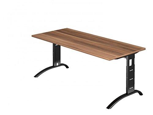 Schreibtisch DR-Büro - Maße 180 x 80 cm - Gestell schwarz - höheneinstellbar 65-85 cm -...