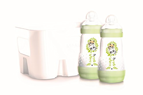 MAM Easy Start Anti Colic 2 +1 Vorteils-Set mit Flaschenkorb