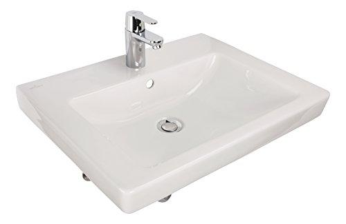 Villeroy & Boch Subway 2.0   Waschtisch-Set   Waschbecken 60 cm   inklusive Armatur und Befestigungsmaterial   Weiß