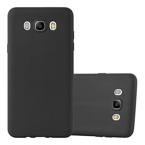 Preisvergleich Produktbild Cadorabo Hülle für Samsung Galaxy J5 2016 (6) - Hülle in Candy SCHWARZ – Handyhülle aus TPU Silikon im Candy Design - Silikonhülle Schutzhülle Ultra Slim Soft Back Cover Case Bumper