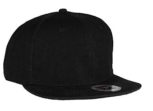 MFAZ Morefaz Ltd Unisex Kappe für Kinder und Erwachsene Mütze Basecap Kappe Junge Mädchen Twill Snapback (Plain Schwarz, Erwachsene) (Plain Baseball Cap Schwarz)