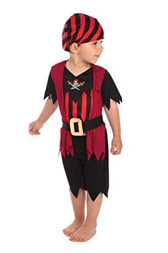 Bristol Novelty Pirat Kostüm für Kleinkinder (Pirat Jungen Kostüm Kleinkind)