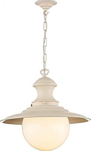 Station Lamp Pendant. Cotswold Cream