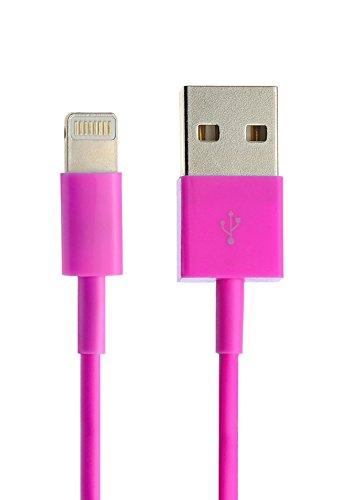 iprotect Original 1x USB Ladekabel/Datenkabel für Apple iPhone 5 5s 5c SE, iPhone 6 6 Plus 6s 6s Plus, iPhone 7 7 Plus, iPhone 8 8 Plus, iPhone X, iPad in pink (Ipod 5 Dock Pink)