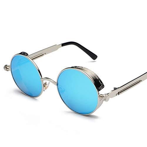 WYJW Klassische Steampunk Sonnenbrillen Europa und Amerika Runde reflektierende Brillen Sonnenbrillen Männer und Frauen -