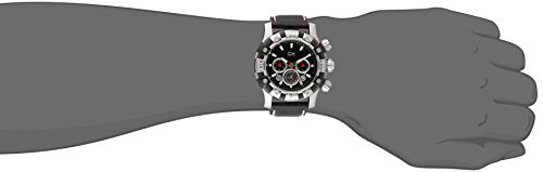 Carlo Monti Arezzo Men's Quartz Watch with Black Dial Chronograph Display and Black Leather Strap CM122-122