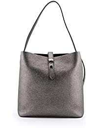 a9b2b95648 Hogan Women's KBW010E0300JHAB401 Silver Leather Shoulder Bag