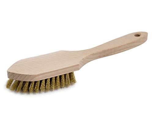 Grillbürste Premium von BÜMAG - geschweifter Holzkörper mit Messing beborstet