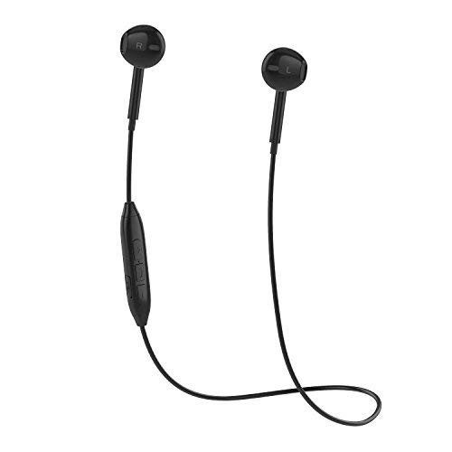Charlemain Cuffie Bluetooth, Auricolare Bluetooth V4.1 Stereo Wireless Senza Fili Auricolari Palestra Sport Gym con Microfono per Phone e Android Samsung Galaxy Sony HTC LG Huawei-Nero