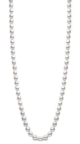 Kimura Pearls Or Blanc 9Carats 7,5mm d'eau douce de culture en forme de riz blanc perle bracelet