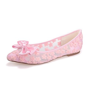 RTRY Donna Shoesflat Tallone Punta Appartamenti Matrimoni/Parte &Amp; Sera Nero/Blu/Rosa/Bianco Avorio US7.5 / EU38 / UK5.5 / CN38