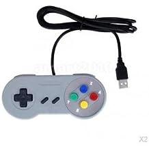 Alcoa Prime 2Pcs USB Remote Controller Game Joystick For PC/MAC Nintendo SNES Games