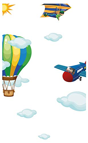 Wandtattoo Kinderzimmer Möbelsticker Set Flugzeuge Zum Kleben Möbelaufkleber