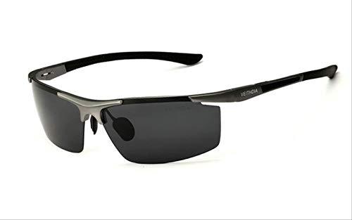 MJDL Aluminium Magnesium Herren Sonnenbrille Polarisierte Beschichtung Spiegel Sonnenbrille Oculos Male Eyewear Zubehör Für Männer Grau