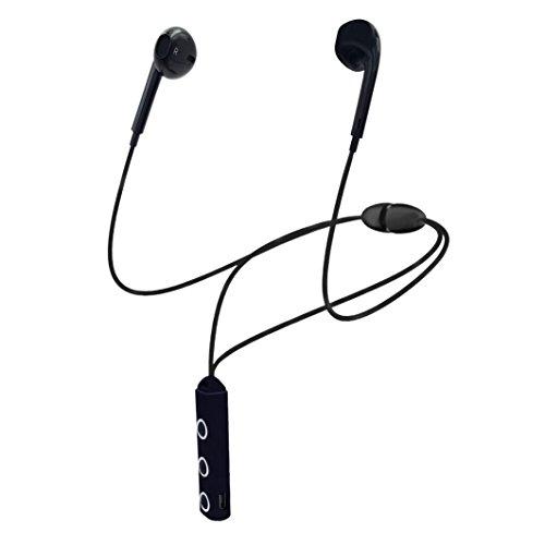 AREABI Viper, Auricolari Wireless Bluetooth, Cuffie Sport Palestra Magnetiche, auricolari magnetici per iPhone Samsung Android Smartphone e Cellulari, Custodia inclusa - Nero