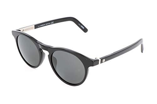 Montblanc Unisex-Erwachsene Mont Blanc Sonnenbrille, Black, 51
