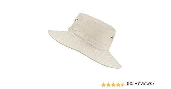 /Bob Unisexe Style Australien Safari en Coton Melange /à Bords Larges TOSKATOK/® Anti UV UPF 50 mentonni/ère et/Oeillets