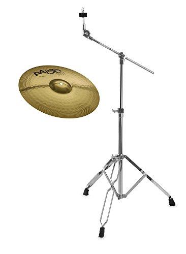 """Paiste 101 Brass 16\"""" Crash Set (MS63 Messing, ausgewogener Klang, für jede Stilrichtung geeignet, inkl. Galgenbeckenständer)"""