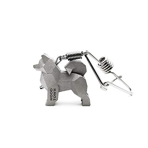 CQ Samojede Autoschlüssel Ring Paar Schlüsselanhänger Kreative Einfache Taille Metall Tier Schlüsselanhänger Einzigartiges Geschenk -
