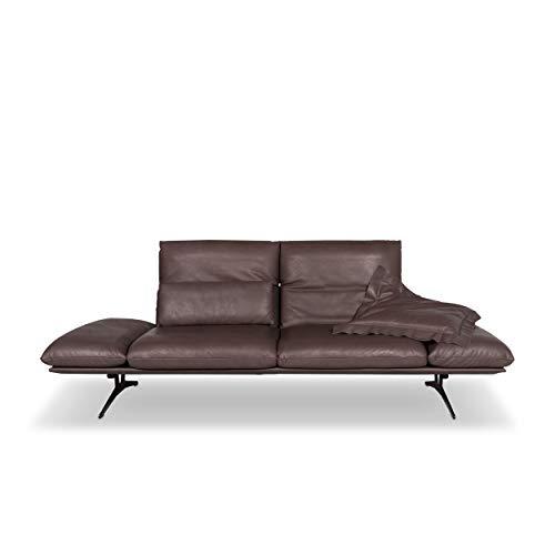 Koinor Francis Designer Leder Sofa Braun Zweisitzer Couch #9741 - Leder-sofas Und Zweisitzer